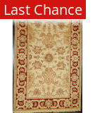 ORG Peshawar 192a Ivory - Red Area Rug