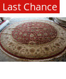 ORG Indo Persian Floral Red - Ivory Area Rug