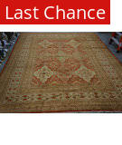 Org 16/18 Antiqued V-1733 Rust - Ivory Area Rug