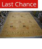 Org 16/18 Antiqued V-1687 Sand - Black Area Rug