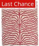 ORG Destin Zebra Fiery Pink Area Rug