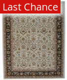 ORG Peshawar Tufted D-411 Ivory-Black Area Rug
