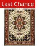 Rugstudio Sample Sale 167546R Red - Ivory Area Rug