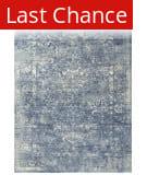 Rugstudio Sample Sale 196559R Blue - Ivory Gray Area Rug