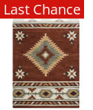 Rugstudio Sample Sale 163755R Rust Area Rug