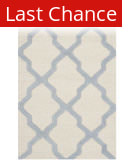 Rugstudio Sample Sale 126663R Ivory - Light Blue Area Rug