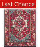Rugstudio Sample Sale 126895R Red - Turquoise Area Rug