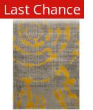 Rugstudio Sample Sale 143599R Light Grey - Yellow Area Rug