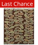 Shaw Angela Adams Fern Dark Brown 07710 Area Rug
