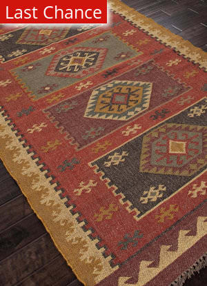 Addison And Banks Flat Weave Abr0039 Red Outlet Area Rug