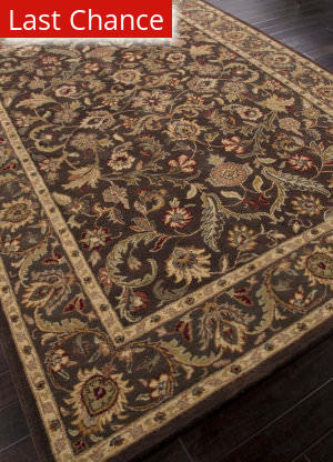 Rugstudio Sample Sale 82254R Dark Brown/Mushroom Area Rug