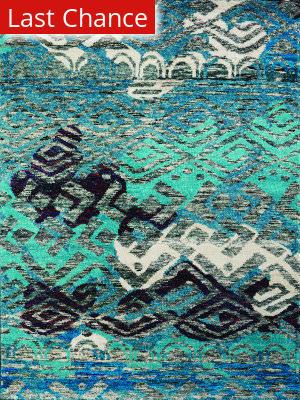 Amer Silkshine Sf-13 Blue Area Rug