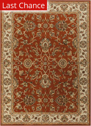 Rugstudio Sample Sale 112302R Red/Beige Area Rug
