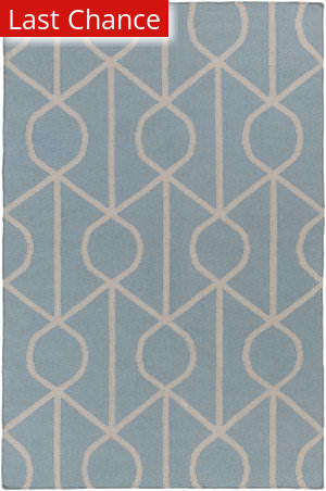 Rugstudio Sample Sale 137615R Light Blue - Ivory Area Rug