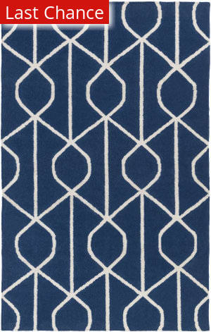 Rugstudio Sample Sale 137612R Blue - Ivory Area Rug