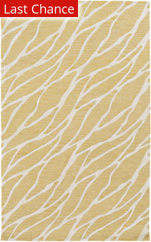 Rugstudio Sample Sale 149939R Gold - Ivory Area Rug