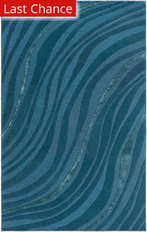 Rugstudio Sample Sale 150217R Teal - Dark Blue Area Rug