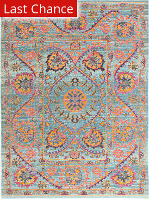 Rugstudio Sample Sale 175730R Teal Area Rug