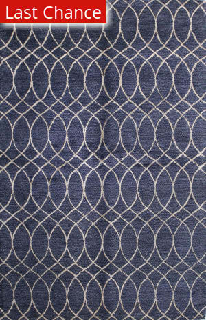 Rugstudio Sample Sale 127740R Navy Area Rug