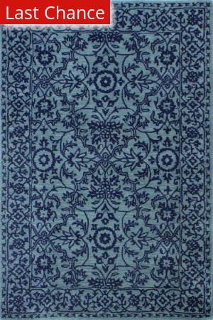 Rugstudio Sample Sale 193754R Blue Area Rug
