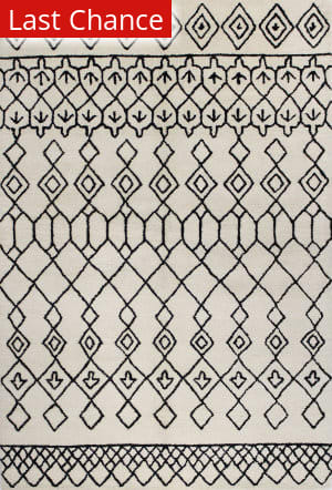 Rugstudio Sample Sale 127641R Ivory - Black Area Rug
