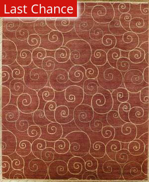 Rugstudio Famous Maker 39355 Red Area Rug