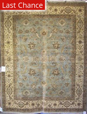 Rugstudio Famous Maker 39381 Light Blue-Ivory Area Rug