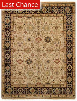 Rugstudio Sample Sale 43766R Beige/Ebony Area Rug