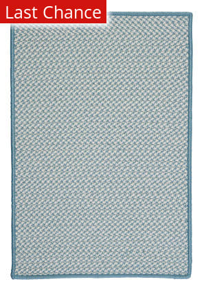 Colonial Mills Outdoor Houndstooth Tweed Ot56 Sea Blue Area Rug