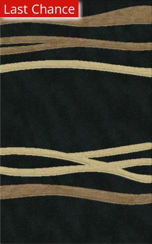Rugstudio Riley DL15 Black-Stone-Putty Area Rug