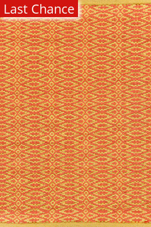 Dash And Albert Fair Isle 72656 Paprika/Curry Area Rug