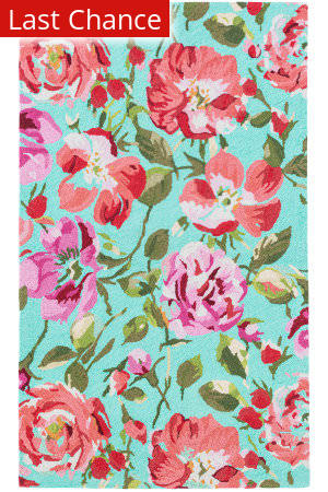Dash And Albert Floral Parade Of Roses Multi Area Rug