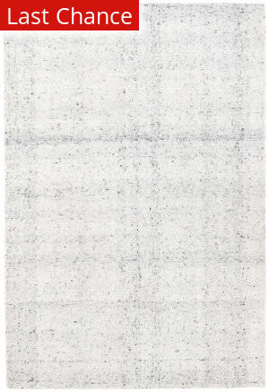 Dash And Albert Zhivago Micro Hooked White Area Rug