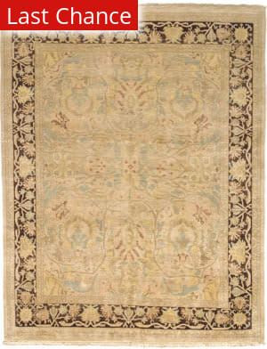 Rugstudio Sample Sale 168002R Ivory - Walnut Area Rug