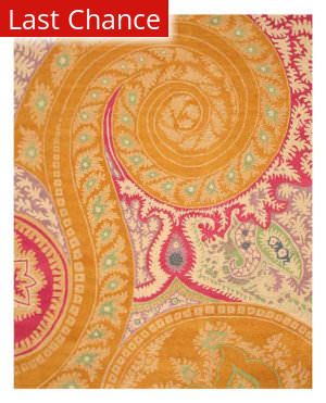 Eastern Rugs Paisley Ie8780b Orange Area Rug