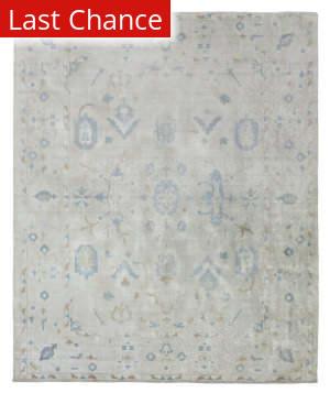 Rugstudio Sample Sale 190716R Ivory - Blue Area Rug