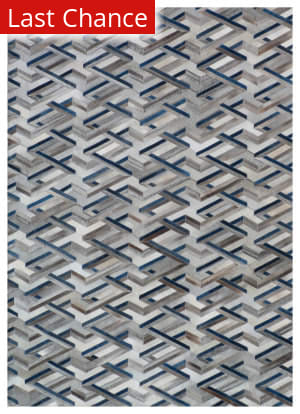Rugstudio Sample Sale 190855R Silver - Blue Area Rug