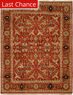 Famous Maker Pastire 100984 Red Area Rug