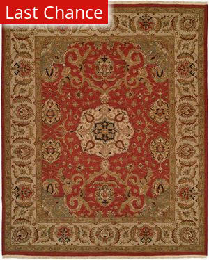 Rugstudio Sample Sale 19284R Rust - Ivory Area Rug
