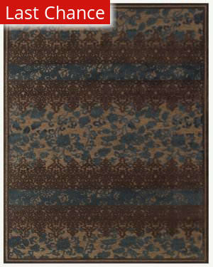 RugStudio Contempo 44679 Coffee teal Area Rug