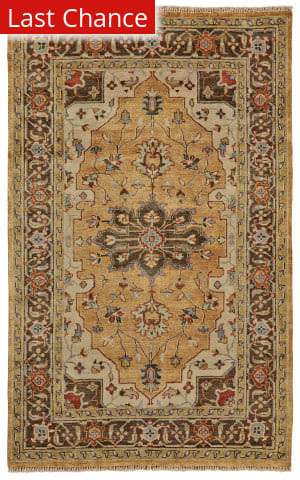 Rugstudio Sample Sale 185235R Gold - Brown Area Rug
