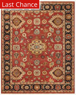 Famous Maker Juliet 44739 Red-Black Area Rug