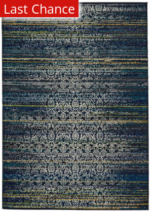 Rugstudio Sample Sale 184728R Midnight Blue Area Rug