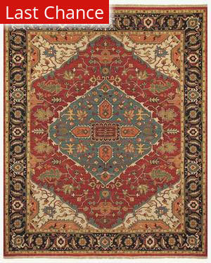 Famous Maker Micha 44601 Red-Black Area Rug