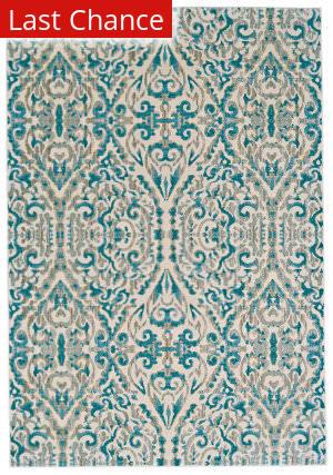 Rugstudio Sample Sale 184959R Turquoise Area Rug
