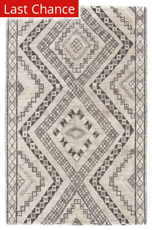 Rugstudio Sample Sale 192920R Dark Gray - Ivory Area Rug