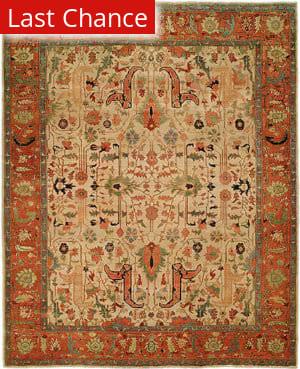 Rugstudio Sample Sale 125971R Ivory - Rust Area Rug