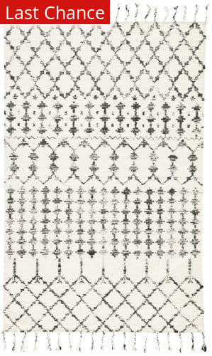 Rugstudio Sample Sale 186019R Ivory - Black Area Rug