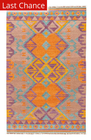 Rugstudio Sample Sale 102910R Burnt Orange - Amphora Area Rug