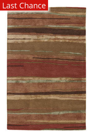 Rugstudio Sample Sale 74728R Classic Rust / Bronze Green Area Rug
